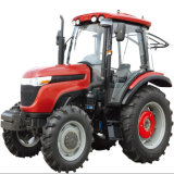 Agricultural quente Machine 95HP 4WD Four Wheel Tratora com Cabin