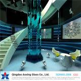 Vidro matizada/da cor flutuador para o vidro decorativo do vidro do vidro/parede/edifício