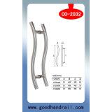 Porte en acier/traction/poignée de porte en verre (CO-2002)