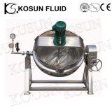 Bouilloire électrique industrielle de jupe de vapeur de l'acier inoxydable 304