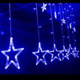 Grande indicatore luminoso della stella 138LEDs 12 del commercio all'ingrosso 2m per l'indicatore luminoso della tenda della stella della decorazione LED di natale di natale