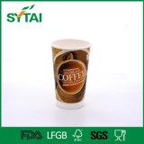 Taza de café modificada para requisitos particulares 12 onzas del papel de empapelar del doble de la insignia