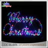 Lumières directes de lettre du motif DEL de corde de Noël de la vente DEL d'usine