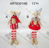 """мальчик подарка украшения мыши рождества 12 """" h & Girl-2asst."""