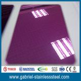 304 201 Couleurs décoratives en acier inoxydable de 0,8 mm