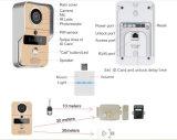 Drahtlose Sichtwechselsprechanlage-Türklingel-AusgangsÜberwachungskamera-Monitor-Gegensprechanlage mit haben Warnung und Fernsteuerungsfunktionen