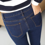 2017 New Style Wholesale Lady's Jeans New Model Jeans