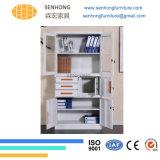 Lh29 2ガラスドアの病院の食器棚の収納キャビネット