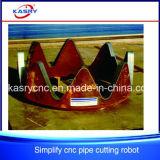 La machine de découpage automatique efficace de plasma de commande numérique par ordinateur pour la pipe bottelle la machine de découpage de pipe d'axe de Kasry 3