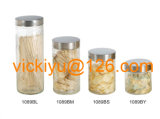 زجاجيّة طعام تخزين زجاجات مع معدن غطاء [500مل2ل]