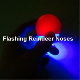 Flashing Reindeer Red Clown Noses Party Favor Toy