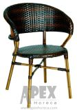 Pranzare la presidenza di bambù della mobilia del patio di sguardo della mobilia del caffè della presidenza