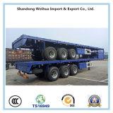 中国実用的な半貨物トレーラーの側面のトレーラー60トンの