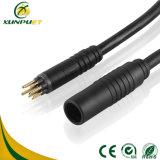 Câble coaxial de liaison de Pin IP67 9 de connecteur imperméable à l'eau de fil
