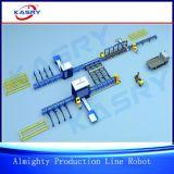 KrXq管およびプロフィール、管、管、楕円形の管、長方形の管、H、I、U、Lビーム、等処理するための万能な生産ラインロボティック打抜き機