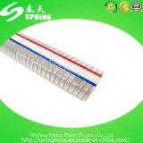 Manguito reforzado plástico de la descarga industrial del agua del alambre de acero del PVC
