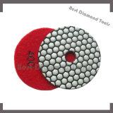 """almofada de polonês flexível da resina seca molhada do diamante de 4 """" 100mm para o concreto da pedra do mármore do granito"""