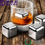 Vente en gros Meilleur personnalisé 304 en acier inoxydable Whisky Stones / Whiskey Ice Cube