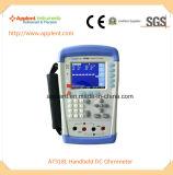 소형 DC 마이크로 옴 미터 10micro 옴 200k 옴 (AT518L)