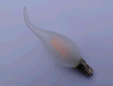 Kerze-Licht mit dem Spitze-freien Raum/Frost-Glasniedriger warmer weißer Vorderkante E14, die Birne verdunkeln