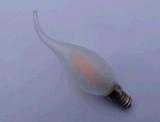 Luz da vela com o espaço livre da ponta/a borda ataque E14 branca morna baixa de vidro da geada que escurece o bulbo