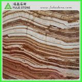 Rotes Wooden Onyx mit Straight Veins Wood Veins