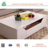 Mesa de centro rústica del mármol del vector de té de los muebles de la sala de estar