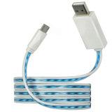 Cable de datos micro del cargador del USB de la luz LED para Andriod Samsung