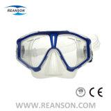 Het multi Kleuren Aangemaakte Silicone van het Glas snorkelt Masker