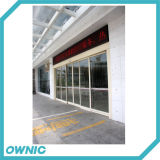 Porte coulissante automatique en verre de Frameless pour l'aéroport (glace non comprise)