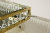 Tabella pranzante di Seater del blocco per grafici della decorazione di cerimonia nuziale del principale di vetro dorato 12 dello specchio con il cristallo