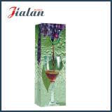 Preiswerte Großhandelswein-Flasche, die 4c gedruckte Papiergeschenk-Beutel verpackt