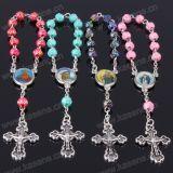 In het groot Kleurrijke Plastic nam Jesus Rosary Bracelet toe