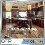 Balcão de cozinha de granito de pedra natural com superfície polida