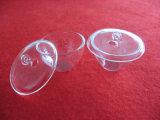 Crisoles transparentes del cuarzo de la silicona con la tapa