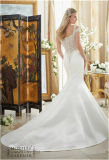 Reizvolle Nixe 2017, die das Braut-Hochzeits-Kleid, angepasst bördelt