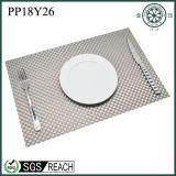 Natte tissée par PVC Placemats de tissu de textile de rectangle