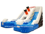 Poolの熱いSale Inflatable Water SlideかInflatable Water Double Lane Water Slide (RB7013)