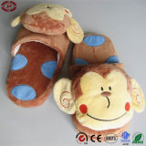 Zapato suave del deslizador del juguete de la felpa linda del mono del bebé