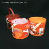 gefäß-Zylinderkasten des kundenspezifischen Druckes Plastik(runder Kasten)