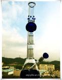 Tubulação de água de fumo de vidro da forma da esfera de Perc da taça da base da árvore do braço de Hb-K36 2*8