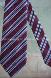 Cravate de piste du jacquard tissée par polyester des hommes