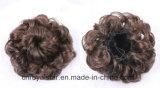 아름다운 자연적인 비꼬인 곱슬머리 짧은 라운드 헤드 가발