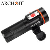 Archon 방수 UV 잠수 영상 가벼운 스쿠바 다이빙 토치 2600 루멘 잠수 LED 플래쉬 등
