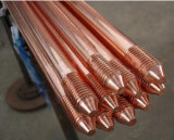 Matériaux de mise à la terre de la terre métallisée Rod d'en cuivre