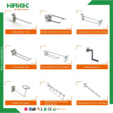 Single Double Prong Steel Wire Display hook pour supermarché