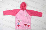 PVC bonito Waterproof Rain Jacket de Cartoon Design para Kids