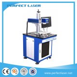 De Laser die van de Vezel van de Gravure van de Gebogen Oppervlakte van de Pot van het metaal Machine merken
