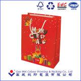 Bolsas de papel del regalo de la Navidad, bolsos del embalaje del regalo, bolsas de papel de la cartulina del regalo