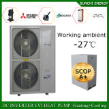 O aquecimento +55c Dhw da casa do assoalho da área de Serbia/Sweden Winter-25c Auto-Degela excepto o ar Monobloc da potência 12kw/19kw/35kw/70kw Evi de 70% para molhar o calefator da bomba de calor